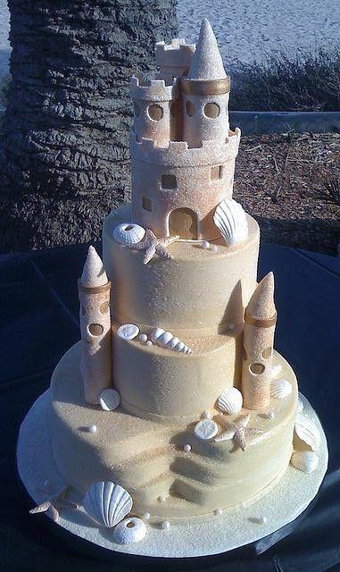 chateau de sable gateau de mariage