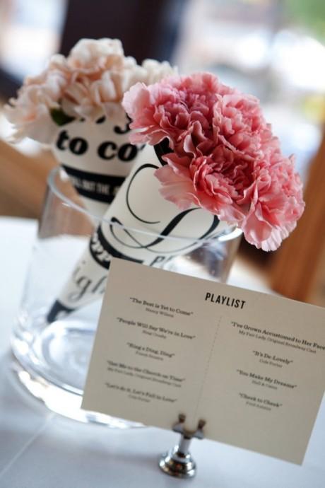 Pour de beaux centres de table, cachez donc des fleurs dans vos cornets que vous disposerez par la suite dans des vases en verre. La couleur du cornet et de la rose dépendra de vos envies et de votre code couleur, nous ce qu'on sait c'est que l'idée est belle et élégante pour des centres de table originaux !