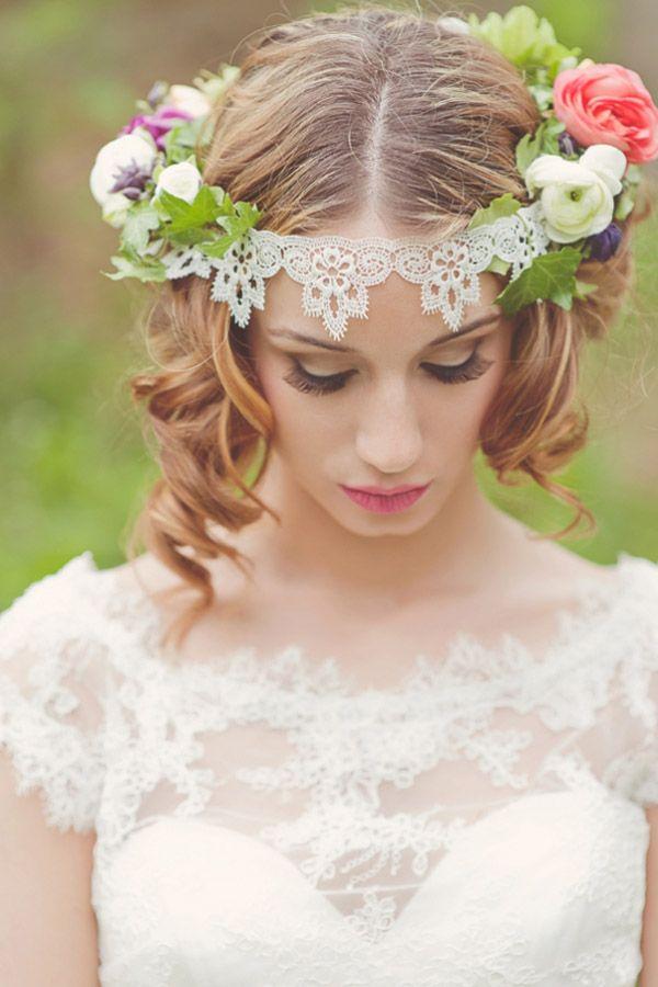 10 couronnes de fleurs pour une mari e flower power - Couronne de fleur mariage ...