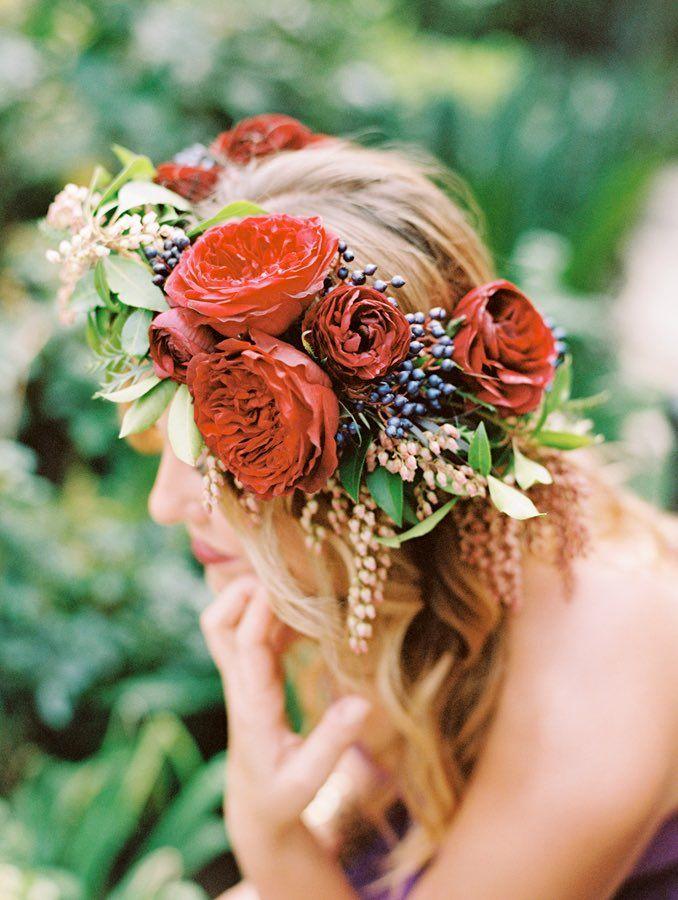 couronne fleur avec rose