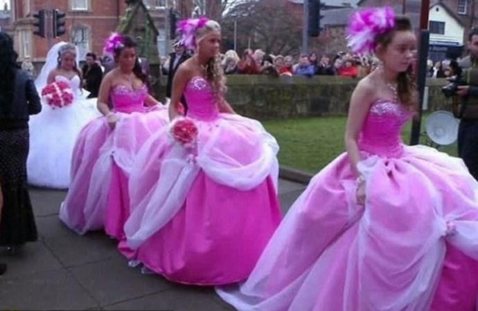 demoiselle dhonneur robe de bal rose