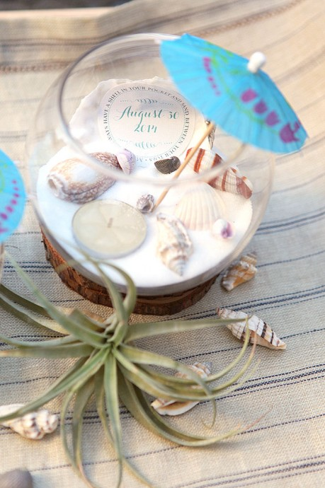 Diy fabriquons de jolis centres de table marins Centre table mariage plage idees