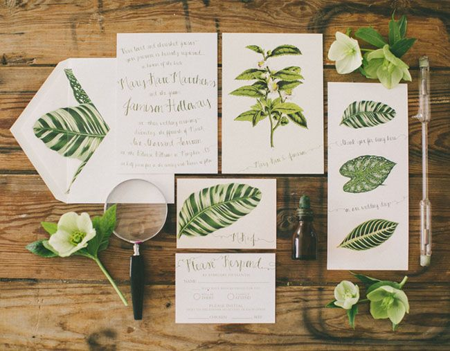 faire part mariage vert