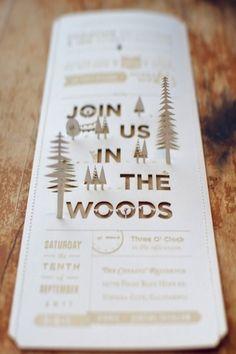 faire part wood chic