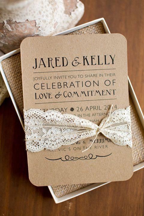invitation mariage dentlle