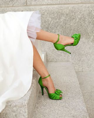 mariee chaussure verte