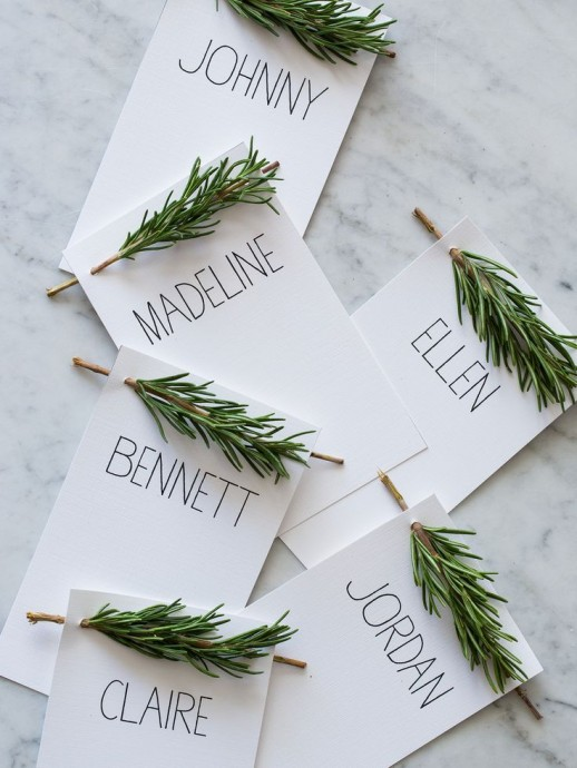 marque place mariage vert