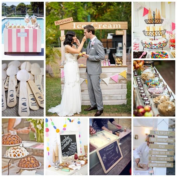 montage photos bar à glaces mariage