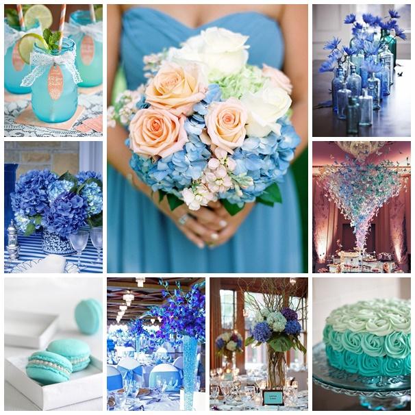 montage photos mariage bleu