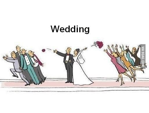 news et si le marie lance le bouquet
