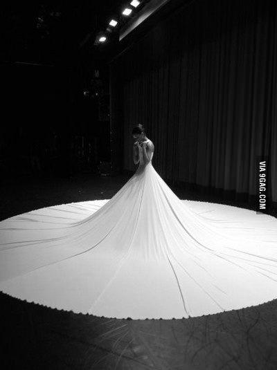 On a retrouv la robe de mari e la plus longue du monde for Robes de mariage du monde de disney