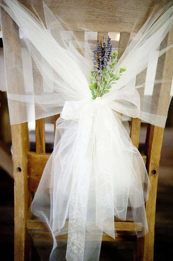 noeud en tulle chaise mariage