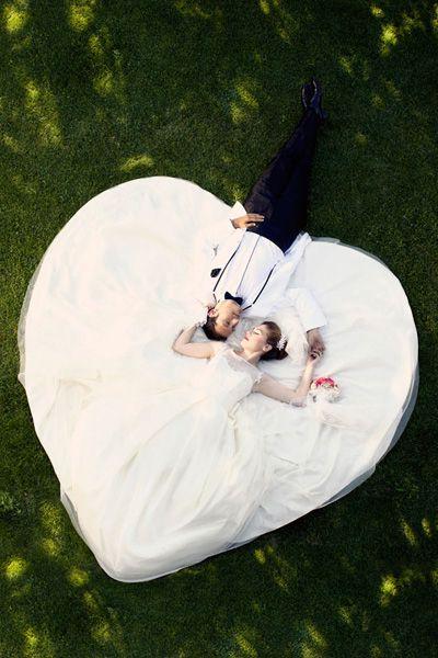 photo de mariage grande robe de mariee