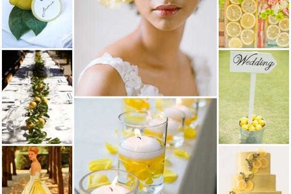 planche mariage citronne