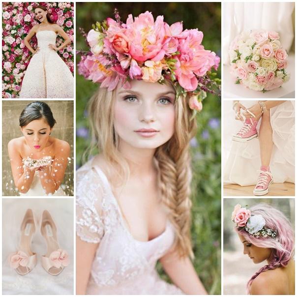 planche mariee voit le vie en rose