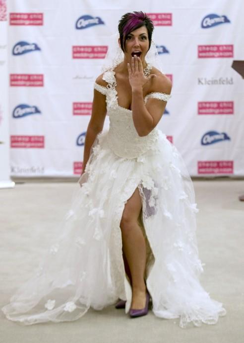 robe de mariee en papier toilette 2