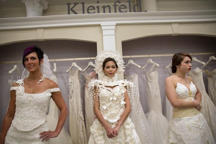 robe de mariee en papier toilette 5