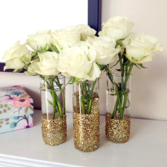 vases glitter