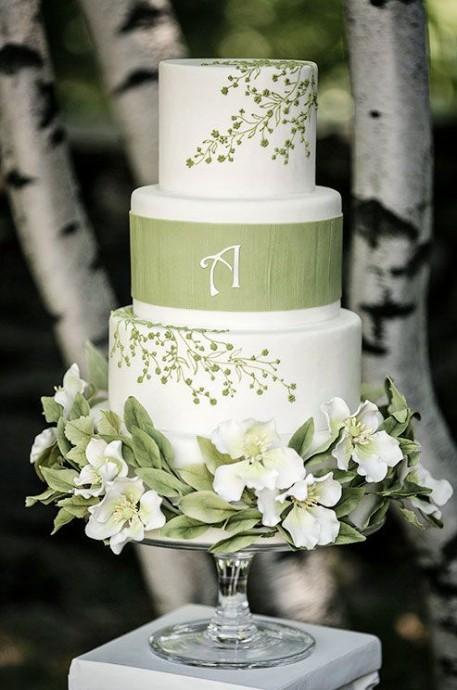 wedding cake vert 2