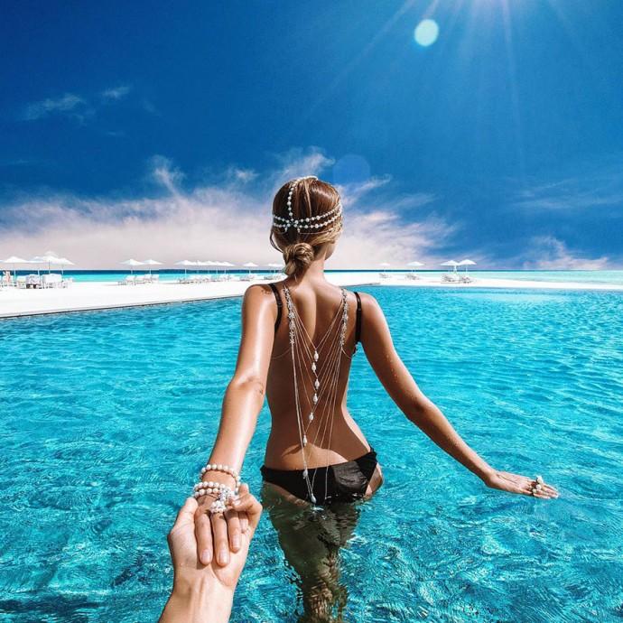 Lune de miel Maldive - murad-osmann-natalia 2