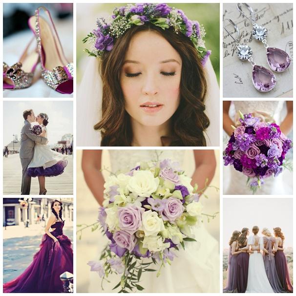 Montage photos mariage theme violet