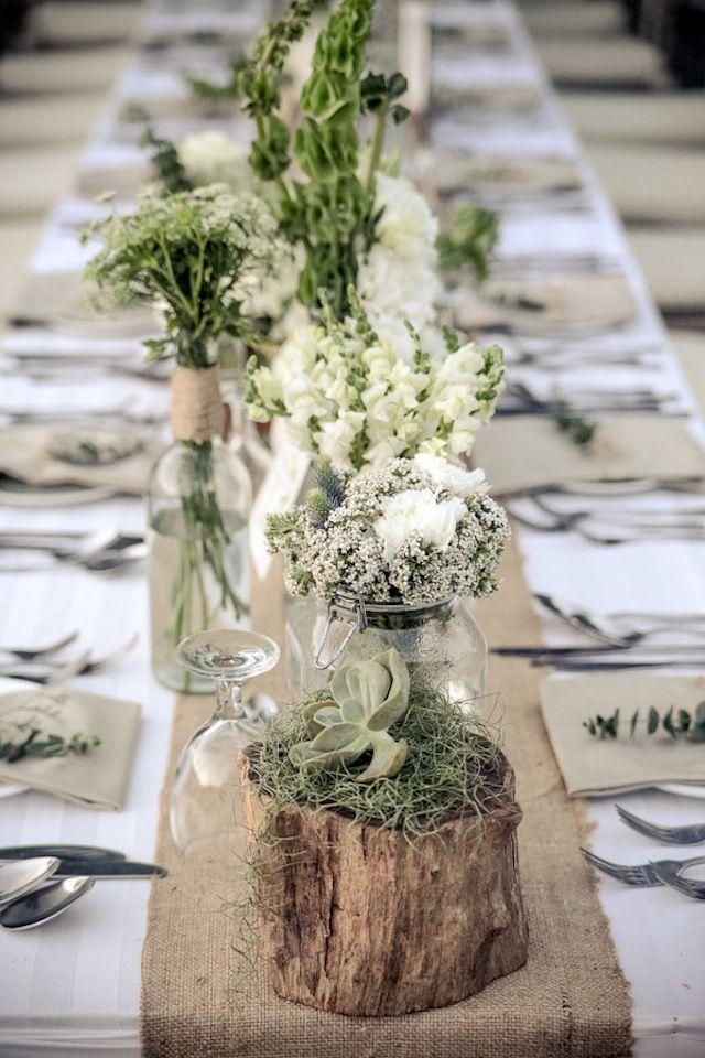 11 astuces pour organiser un mariage rustique sans trop d penser page 2 sur - Table de mariage chic ...