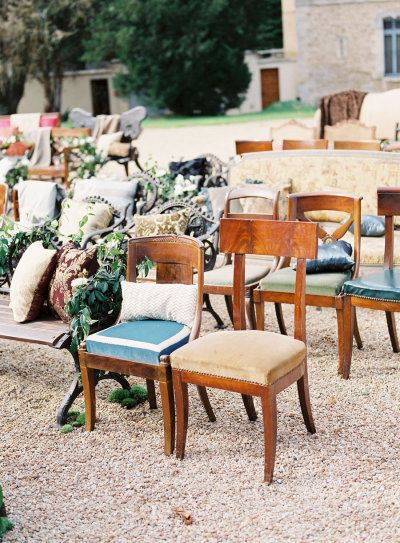 chaises de mariage vintage