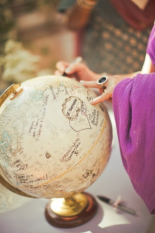 globe trotter mariage vintage
