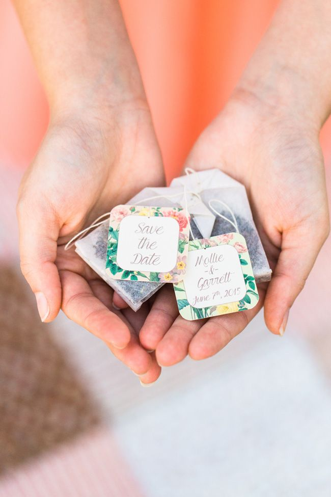 messages mariage tea bag