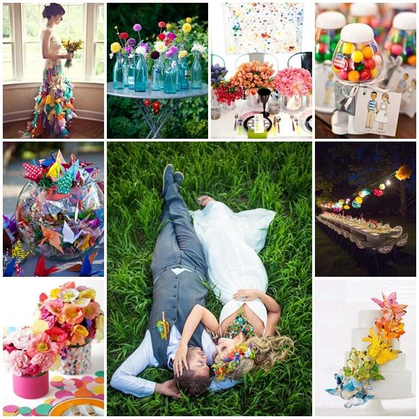 montage mariage multicolore