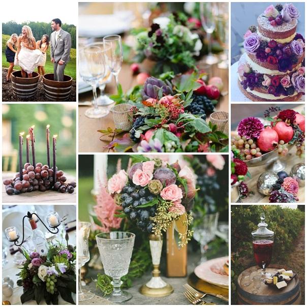 montage photos mariage theme raisin