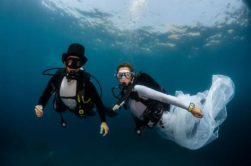 news mariage sous l'eau