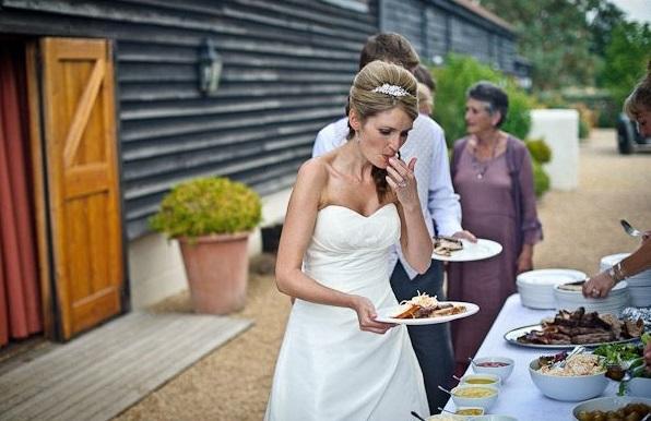 repas mariage rustique