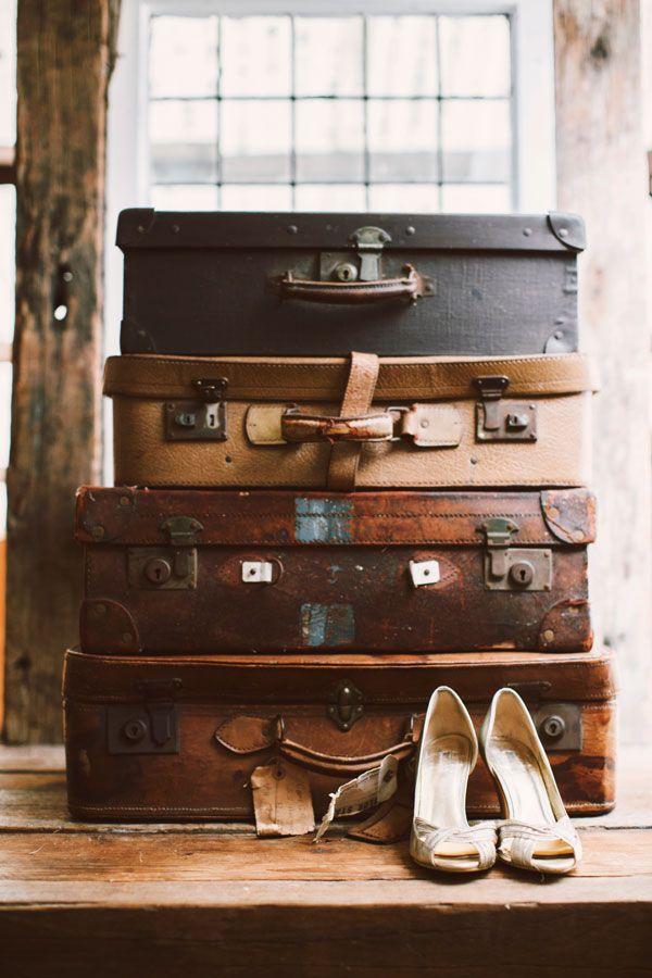 valises mariage vintage