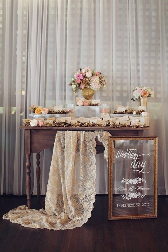 wedding table mariage vintage