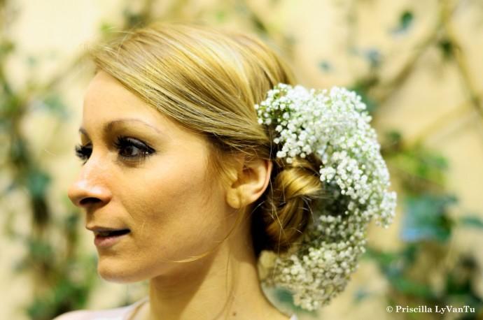 Decoration mariage - coiffure mariage - Gypsophile - mariage blanc