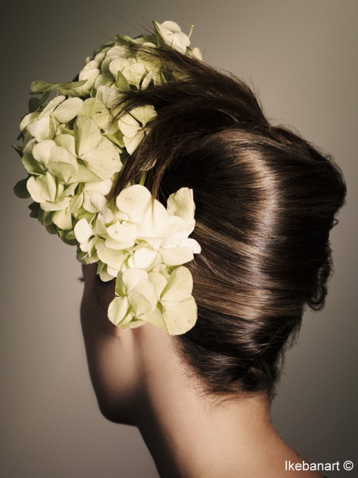 Decoration mariage - coiffure mariage - hortensia blanc