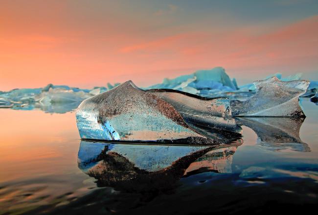 Lac gele jokulsarlon Islande
