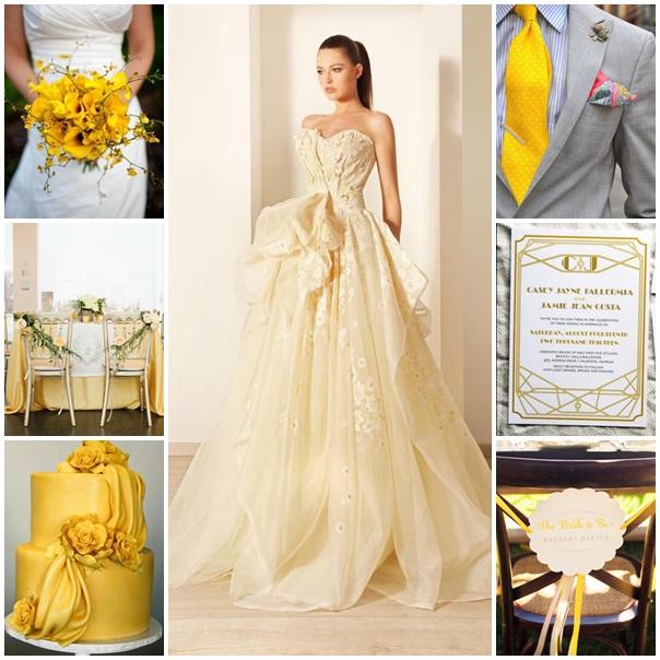 Mariage jaune or