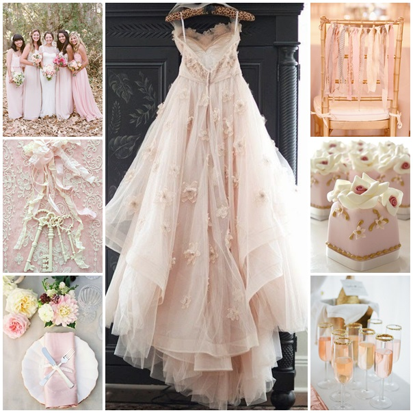Mariage rose tendre