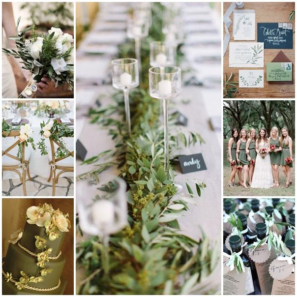 couleur de mariage thème de mariage vert olive mariage
