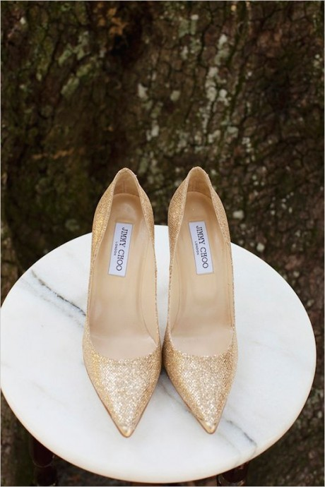 chaussures 3 or - sources weddingchick