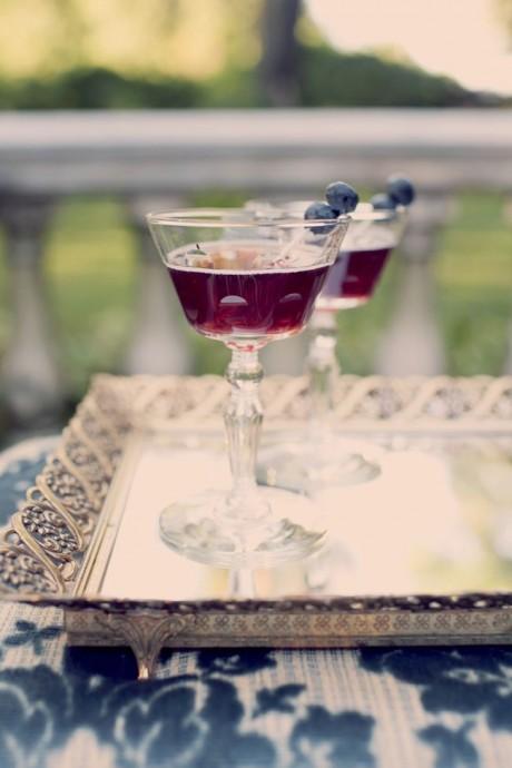 cocktail mariage prune et blueberries