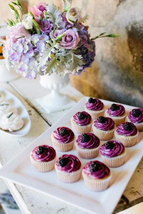 cupcake mariage prune et blueberries