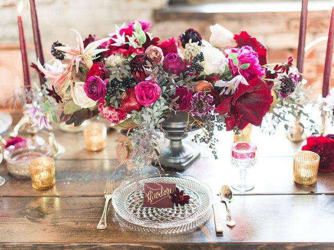 decoration de table prune