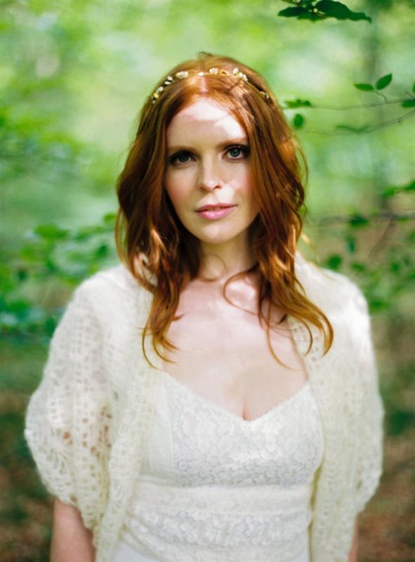 mariee rousse cheveux laches