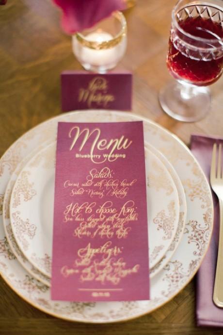 menu mariage prune