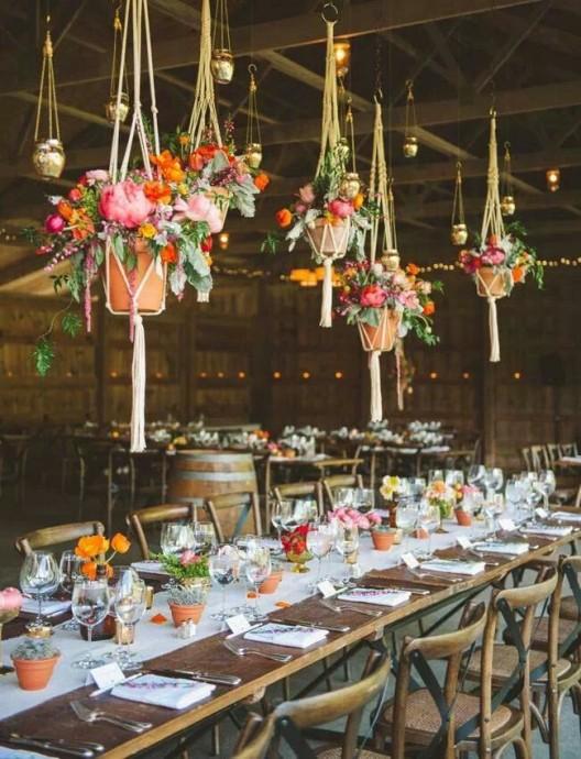 10 d corations suspendues et renversantes pour un mariage for Decoration esprit campagne