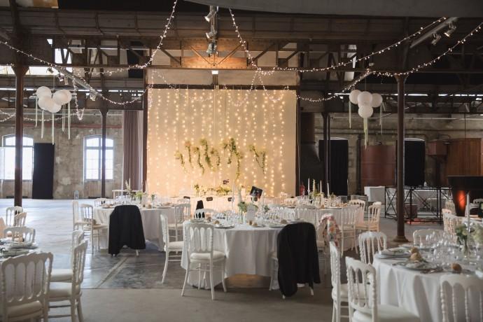 reception salle industrielle mariage pauline et geoffrey
