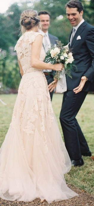Matrimonio Country Chic Abiti : Il était une fois un mariage rose tendre et romantique